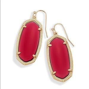 NEW Kendra Scott Elle Drop Earrings in Berry